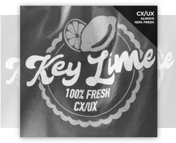 Key Lime 100% Fresh CX/UX Team Logo